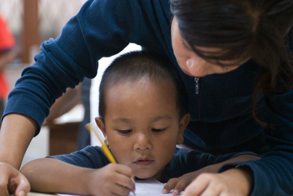 A pupil being tutored.